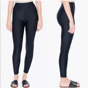 Black AA shiny, high waisted legging